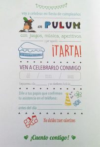 Invitaciones para cumpleaños parque de bolas pulum Madrid